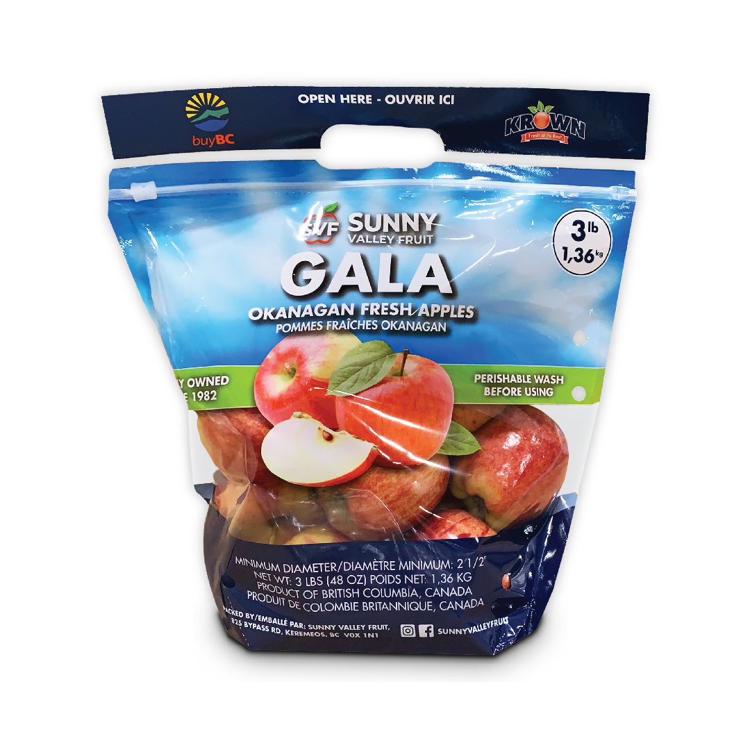 Sunny Valley Fruit - Krown Gala Apple Bag
