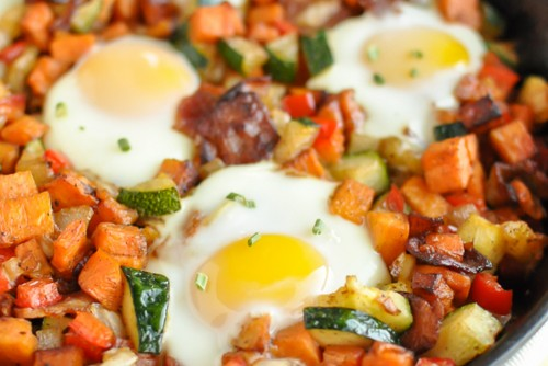 sweet potato bacon breakfast skillet banner 2